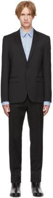 HUGO Black Virgin Wool Astian/Hets Suit