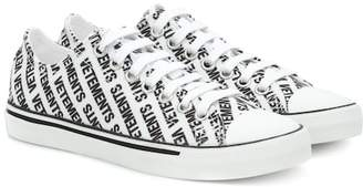 Vetements Logo-printed canvas sneakers