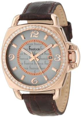 Freelook Quartz Stainless Steel and Leather Casual Watch