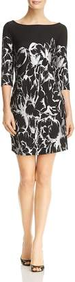 Leota Nouveau Crinkled Floral Print Dress