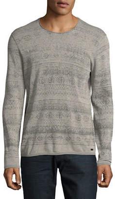 John Varvatos Fairisle Crew Neck Sweater
