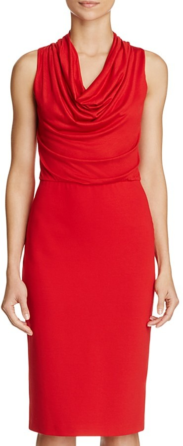 Max Mara Max Mara Alabama Cowlneck Dress