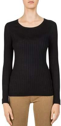 Gerard Darel Clara Contrast-Rib Sweater