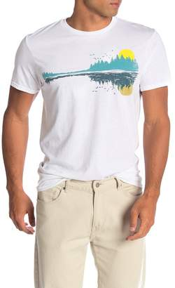 Fifth Sun Music Lake Graphic Short Sleeve Crew Neck T-Shirt