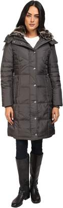 London Fog Women's Fur Collar Down with Hood