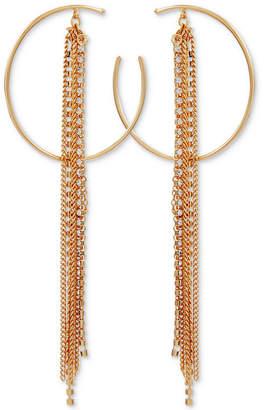 GUESS Crystal Hoop & Multi-Chain Fringe Drop Earrings