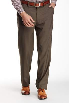 "Louis Raphael Solid Worsted Wool Modern Fit Pants - 30-34"" Inseam"
