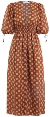 Zimmermann Primrose Shirred Waist Dress