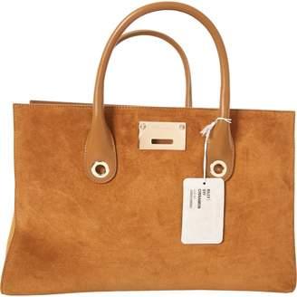 Jimmy Choo Riley Camel Suede Handbag