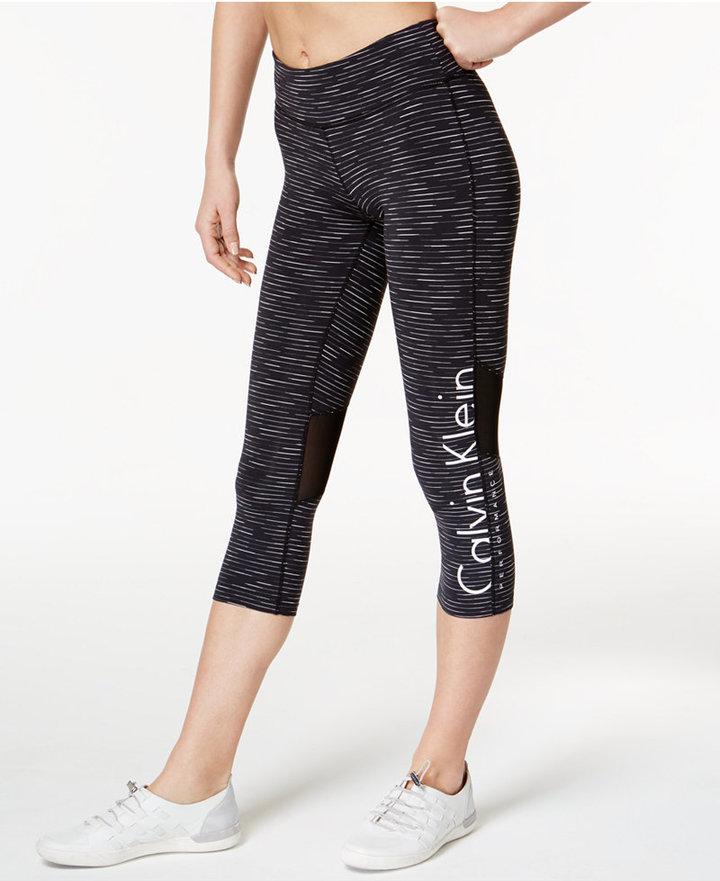 Calvin Klein Performance Space-Dyed Logo Capri Leggings