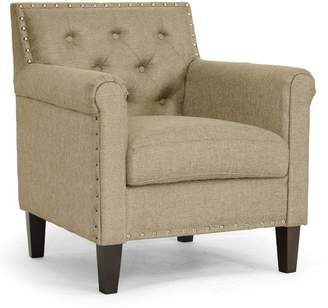 Baxton Studio Thalassa Linen Modern Arm Chair