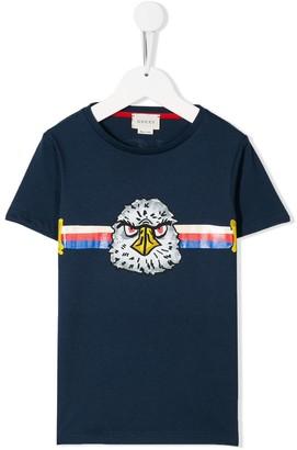 Gucci Kids eagle stripe T-shirt