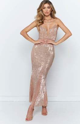 Beginning Boutique Ruth Maxi Dress Champagne