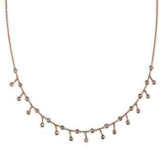 Jacquie Aiche Spaced Diamond Shaker Necklace in 14K Rose Gold