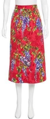 Dolce & Gabbana Wisteria Patterned Skirt