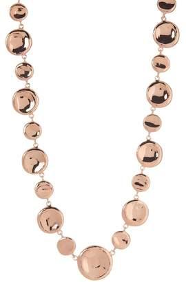 Rivka Friedman Polished Alternating Size Disc Design Necklace