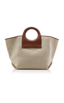 Hereu Cala Leather-Trimmed Canvas Tote