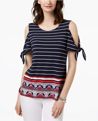 Charter Club Cold-Shoulder Top, Created for Macy's