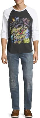 True Religion Workwear Distressed-Denim Pants