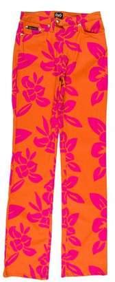 Dolce & Gabbana Mid-Rise Floral Print Pants w/ Tags