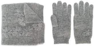 Tartine et Chocolat knitted gloves and scarf set