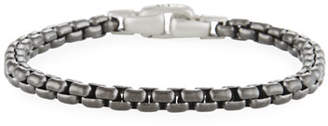 David Yurman PVD-Coated Box-Chain Bracelet