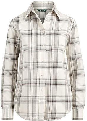 Ralph Lauren Lauren Plaid Cotton Twill Shirt $89.50 thestylecure.com