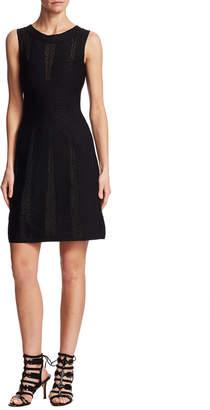 Alaia Knit Lace Dress