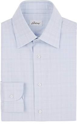 Brioni Men's Plaid Cotton Dress Shirt