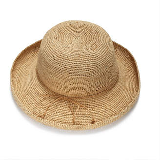 Wide-Brimmed Raffia Straw Hat