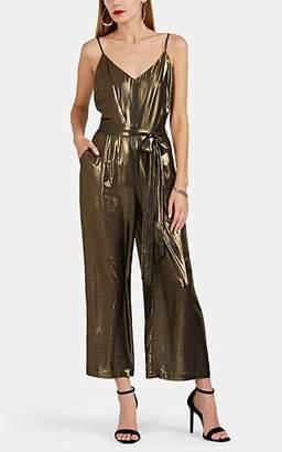 90312e31c393 L Agence Women s Jaelyn Foiled Chiffon Jumpsuit - Gold