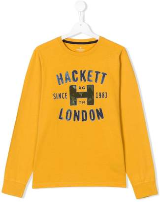 Hackett (ハケット) - Hackett Kids TEEN logo print T-shirt