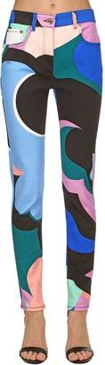 Emilio Pucci Printed Cotton Denim Jeans