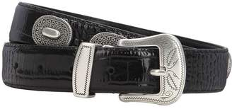 The Kooples Leather Belt W/ Studs