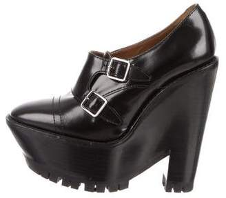 Burberry Platform Wedge Booties