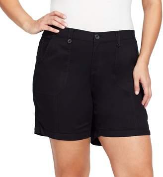 Gloria Vanderbilt Plus Size Cathy Cargo Shorts