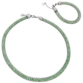 09772606,3511 Eternity Women's Jewellery Set Necklace and Bracelet 925 Sterling Silver Cubic Zirconia 66013Z 4,06 g