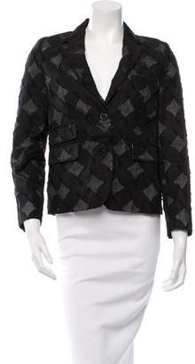 Black Fleece Patterned Dual Pocket Blazer