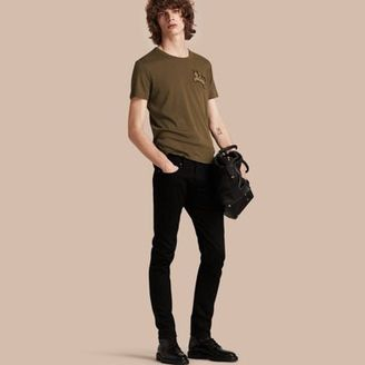 Burberry Cotton Wool Blend T-shirt $295 thestylecure.com