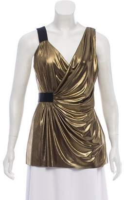 Bailey 44 Draped Metallic Top
