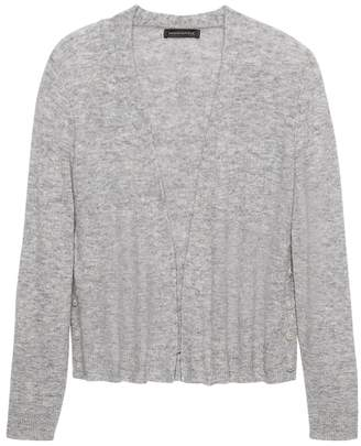 Banana Republic Petite Aire Button-Side Cropped Cardigan Sweater