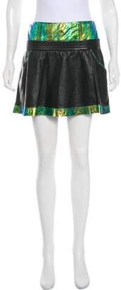 Theyskens' Theory Iridescent Leather Mini Skirt