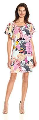 MSK Women's Crepe Ruffle Sleeeve Dress