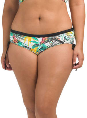 Plus Suri Leaf Print Swim Bottom