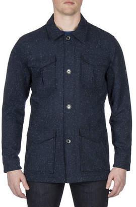 Ben Sherman Modern Dandy Wool-Blend Workwear Mac Jacket