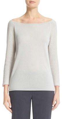 Women's Fabiana Filippi Sequin Sleeve Cashmere & Silk Top $865 thestylecure.com