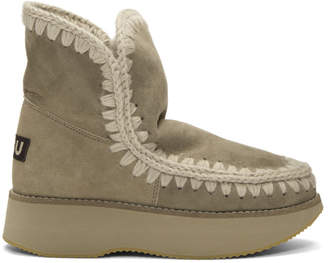 Mou Grey Running Eskimo Boots