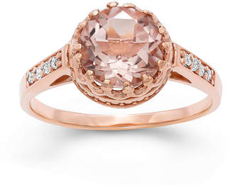 FINE JEWELRY Simulated Morganite Sterling Silver Ring