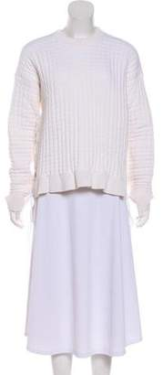 Paco Rabanne Lace-Up Quilted Sweater