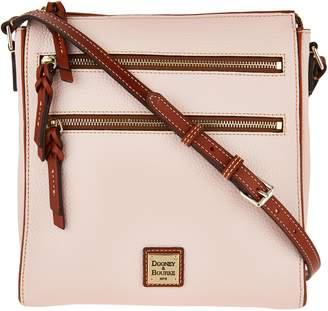 f6511b5dd2a9 Dooney   Bourke Pebble Leather Triple Zip Crossbody Handbag